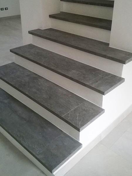Scale e bordature lavorazione piastrelle gres porcellanato for Piastrelle per scale esterne